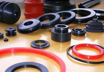 A variety of rubber and rubber-to-metal mold parts